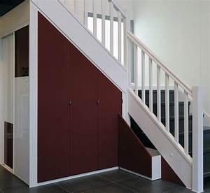 Aménagement Sous Escalier : am nagement sous pente sur mesure combles escaliers conseil ~ Preciouscoupons.com Idées de Décoration
