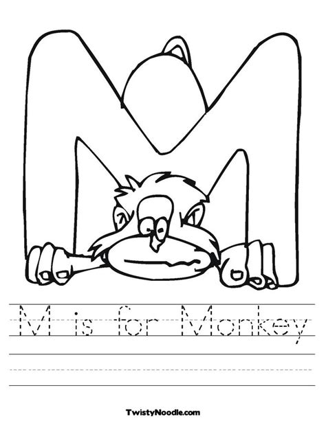 free coloring pages of jolly phonics letter m