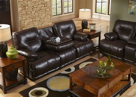 power reclining sofa with drop down table mercury godiva power lay flat reclining sofa with drop