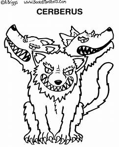 Book Of Monsters Coloring Page For Kids Cerberus Greek