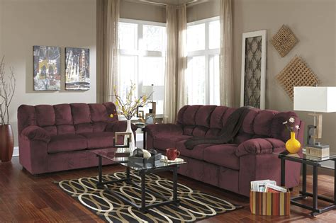 julson burgundy sofa loveseat fabric living room sets