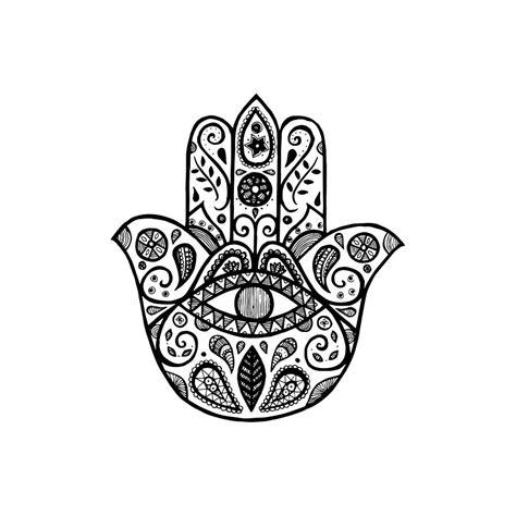 Kleurplaat Hamsa by The Hamsa Drawing By Tati Alecrim