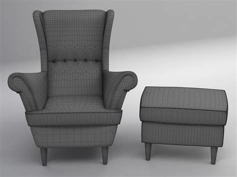 wing chair 3d max