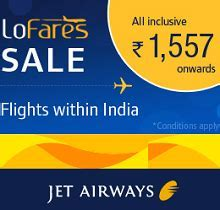 Flight Fares Starting Rs. 1557 From Jetairways.com