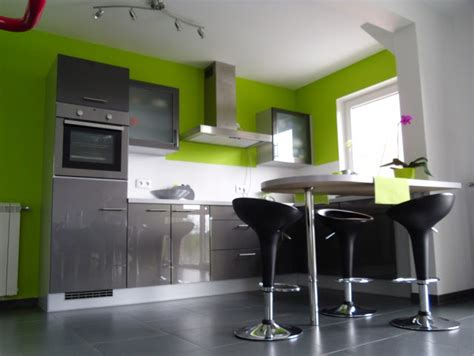 cuisine vert cuisine vert et gris