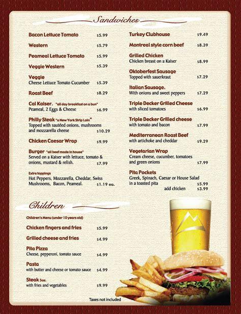 menu design templates 8 menu templates excel pdf formats