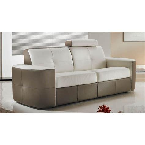 canapé lit convertible cuir bicolore rapido verysofa vanity