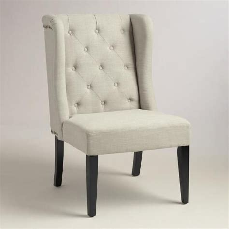 margo linen fabric tufted wingback dining chair 1000 images about dining room on pendant