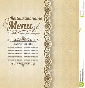 Restaurant Food Menu Vintage Typographic Design Background ...