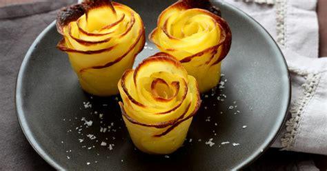 comment faire des roses de pommes de terre