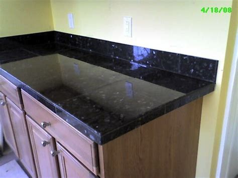 tile countertops black granite tile counter top 4