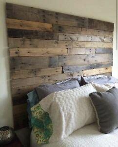 Diy King Size Headboard by King Size Bed Reclaimed Pallet Wood Diy Rustic Headboard