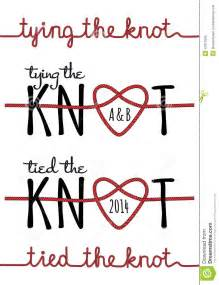 wedding knot tying the knot vector set stock vector image 41872556