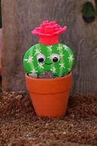 Cactus Pet Rock Craft