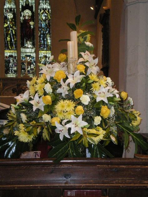 Church Wedding Decorations Altar Flowers Spray Altar