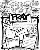 Missions Coloring Missionary Mission Church Children Prayer Activities Pray Craft Missionaries Sunday Praying Bible Worksheet Sheets Activity Sheet Lessons Crafts sketch template