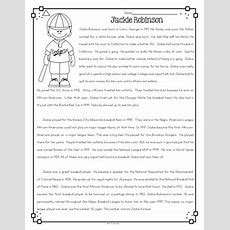Jackie Robinson Differentiated Reading Passages & Questions Tpt