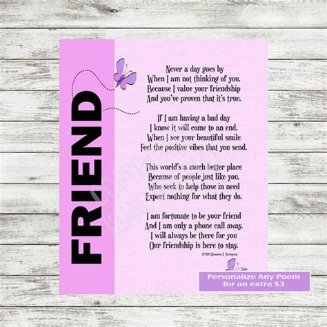 friend print friendship poem friendship gift  friend