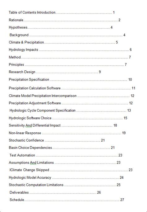content template table of contents template word playbestonlinegames