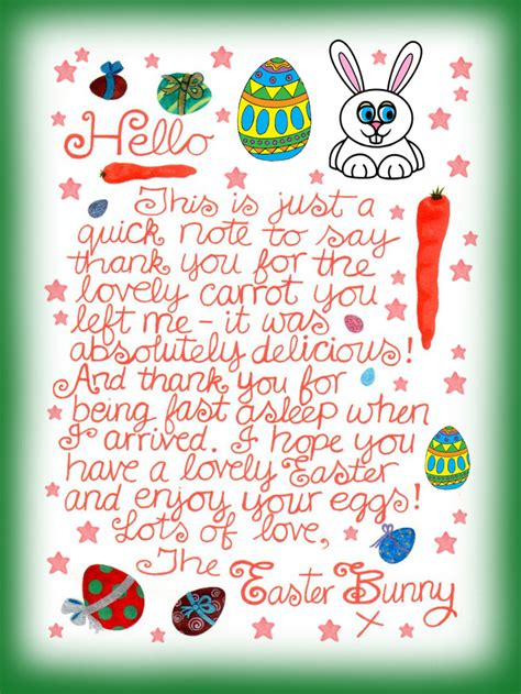 Letter To Easter Bunny Template by Easter Bunny Note Thank You For The Carrot Rooftop Post