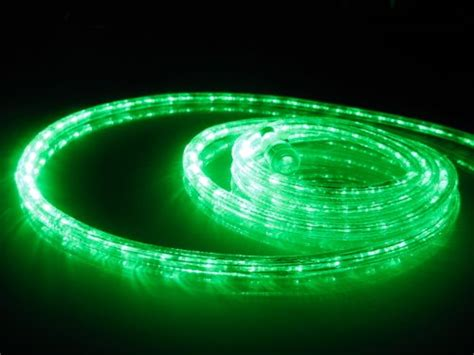 18ft rope lights emerald green led rope light kit 1 0
