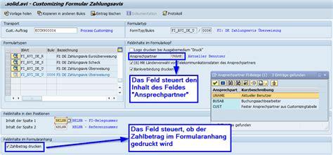 customize template formulary sap formular zahlungsavis zum festpreis solidforms