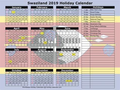 2018 Calendar School Holidays South Africa