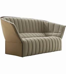 Ligne Roset Sofa Vintage Black Leather Togo Sofa Set By