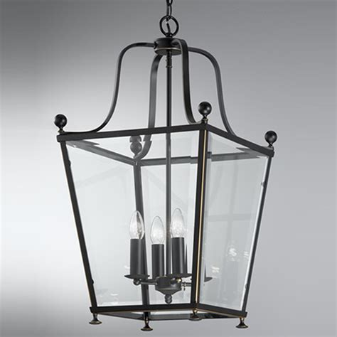 franklite atrio large 4 light chrome lantern pendant