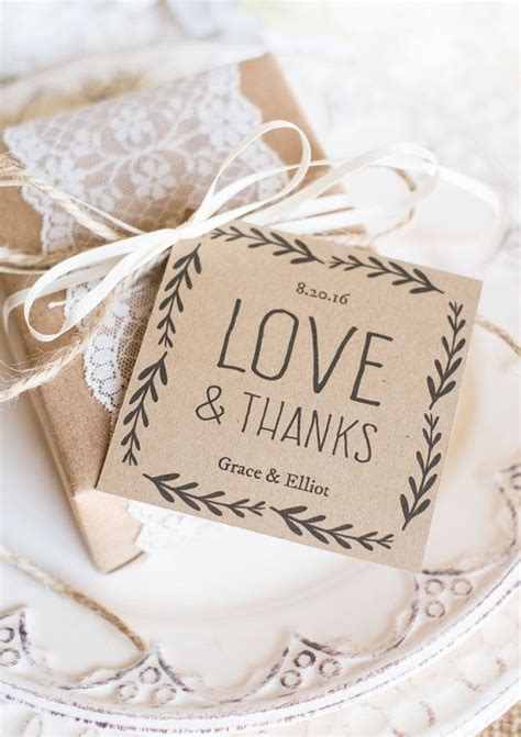 rustic wedding favor tags  instantly editable
