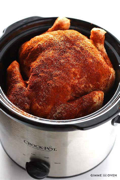 cooker chicken recipes slow cooker quot rotisserie quot chicken gimme some oven