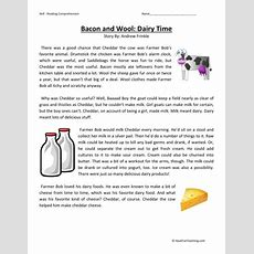 Reading Comprehension Worksheet  Bacon And Wool Dairy Time