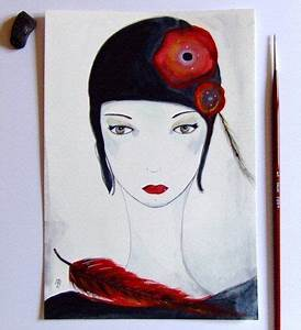 Peinture Visage Femme : visage femme peinture fleurs femme pinterest visages fleur et art graphique ~ Melissatoandfro.com Idées de Décoration