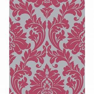Shop Graham & Brown Majestic Pink Vinyl Textured Damask ...