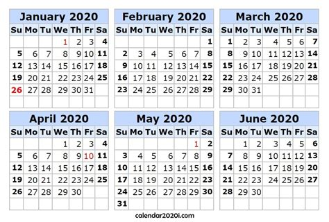 months year printable calendar calendar