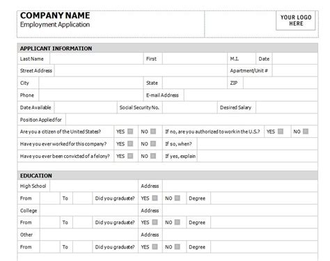 Mustervorlage Bewerbung by Application For Employment Template Application For