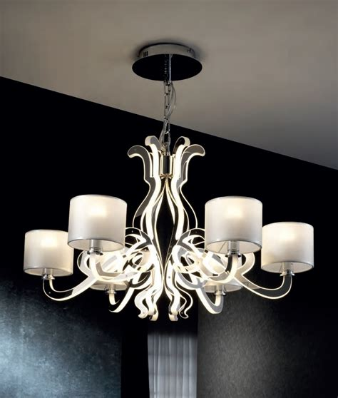 Led Chandelier Lights by Ghost Design 6 Light Chandelier With Shades Leds
