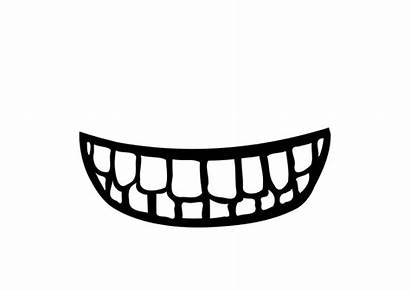 Mouth Coloring Teeth Clipart Pages Printable Edupics