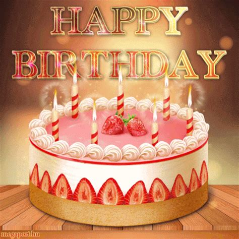 happy birthday cake image gif pictures   images