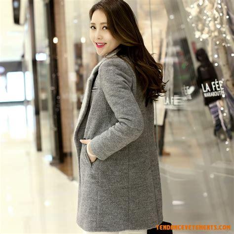 si鑒e de bureau pas cher manteau femme pas cher gris manteau de longue mince mode