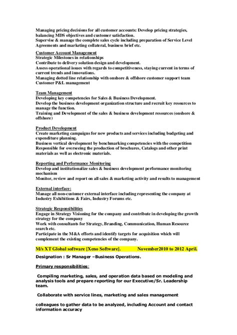 Business Development Executive Resume India by Updated Business Development Manager Resume 1