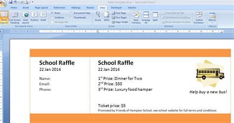 numbered raffle ticket template template to make tickets invitation template