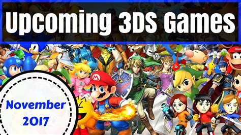 upcoming ds games november  youtube
