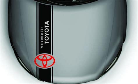 product hood vinyl sticker decal  toyota camry corolla