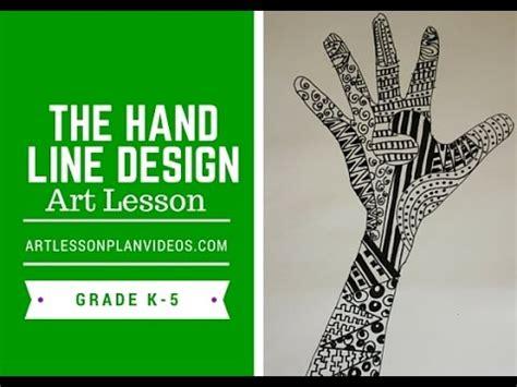elementary art lesson  hand  design youtube