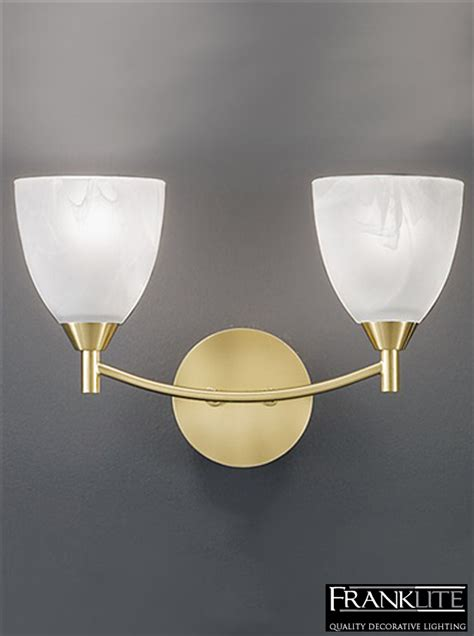 franklite emmy brass finish alabaster glass shades