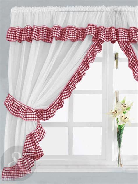 red kitchen curtains ideas  pinterest kitchen curtains farmhouse christmas kitchen