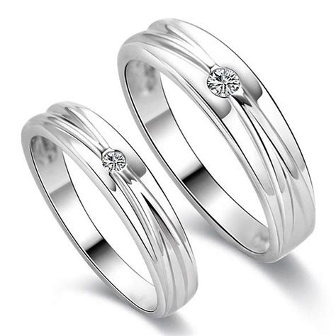simple ring perak 925 lapis emas putih 117 best images about couples wedding bands on