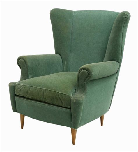 italian mid century modern wingback chair june mid