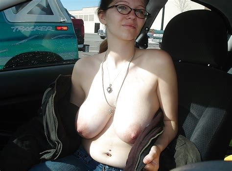 36 Amateur Girls Getting Naked In They Car In Public